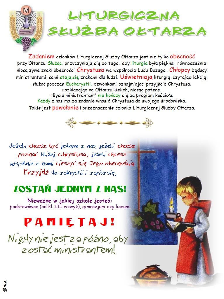 Liturgiczna Służba Ołtarza - plakat
